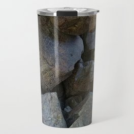 Natural Beach Rock Cave Texture Cornwall Travel Mug