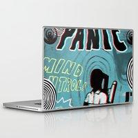 panic at the disco Laptop & iPad Skins featuring panic by Matthew Jorde