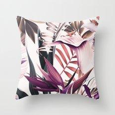 Magenta tropical Throw Pillow