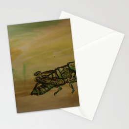 Grasshopper - 31, Mar. 2010 - Tonight's Watercolor Stationery Cards