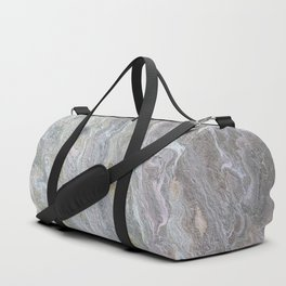 Gold, White, Grey, and Pink Duffle Bag