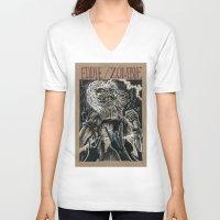 iron maiden V-neck T-shirts featuring Eddie the Head / Iron Maiden (DRAWLLOWEEN 8/31) by pakowacz