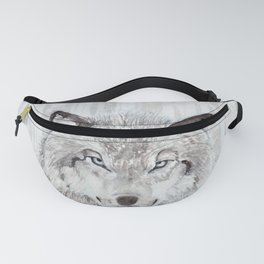"Watercolor Painting of Picture ""Wolf"" Fanny Pack"