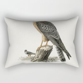 Red-footed Falcon female (Falco vespertinus) illustrated by the von Wright brothers Rectangular Pillow