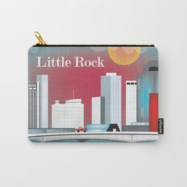 Little Rock, Arkansas - Skyline Illustration by Loose Petals Carry-All Pouch