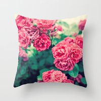 flora Throw Pillows featuring Flora by Laura Ruth