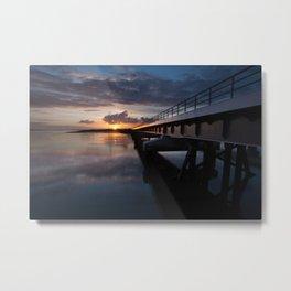 Loughor rail bridge Metal Print