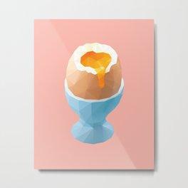 Boiled Egg Polygon Art Metal Print