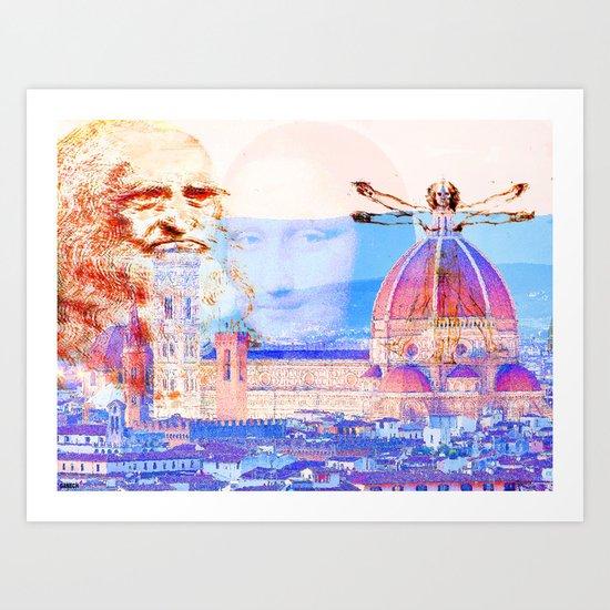 Code Leonardo  Art Print