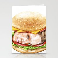 burger Stationery Cards featuring Burger by Creadoorm
