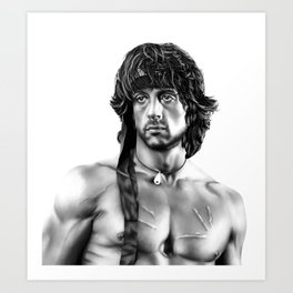 Sylverster Stallone Art Print