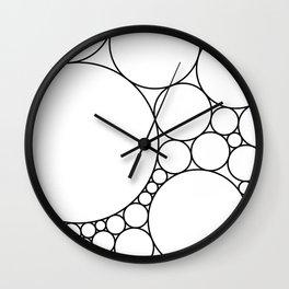 Geometric Abstract - Circles (Black) Wall Clock