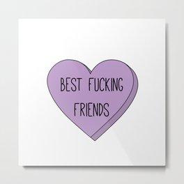 Best F-ing Friends (Purple) Metal Print
