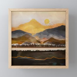Pure Wilderness at Dusk Framed Mini Art Print