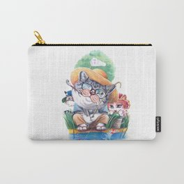 A cat family on the summer holiday Carry-All Pouch