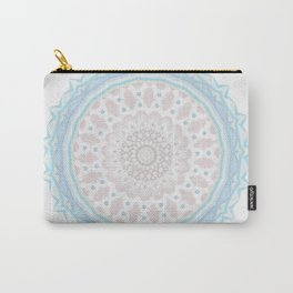 Pastel BabyBlue Pink Marble Manadala Carry-All Pouch