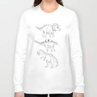 dinosaurs Long Sleeve T-shirts featuring dinosaurs by Hannah Elizabeth