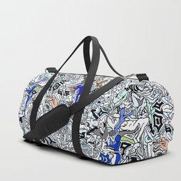 Retro Kamasutra LOVE Doodle  Duffle Bag