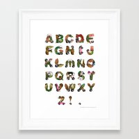 gremlins Framed Art Prints featuring Gremlins Inspired Movie Typeface Poster by Fluffy Decay