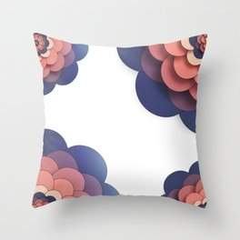 Floral // Border Throw Pillow