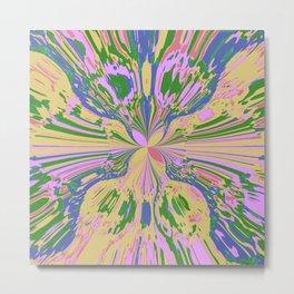 Earth Butterfly Metal Print