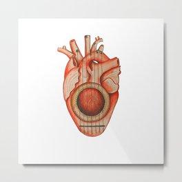 Tune the heart Metal Print