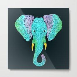 Elliedot Pachyderm Elephant Art Metal Print