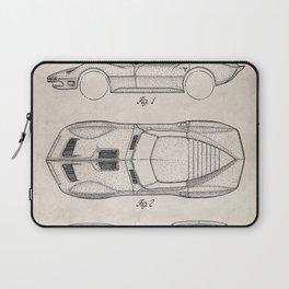 Classic Car Patent - American Car Art - Antique Laptop Sleeve