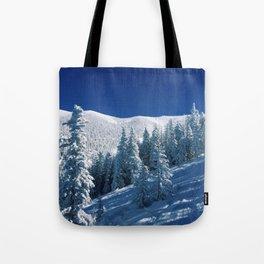 Snowy Mountain &Trees Tote Bag