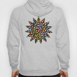 Filigree Floral smaller scale Hoody