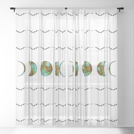 Aztec Moon Sheer Curtain