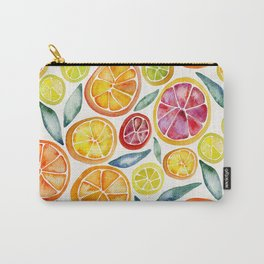 Sliced Citrus Watercolor Carry-All Pouch
