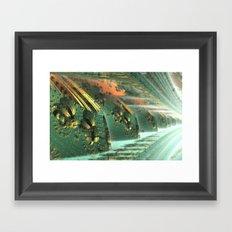 Cannon Battery (Crosshatch Explosion) Framed Art Print