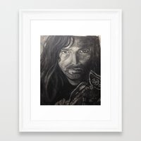 kili Framed Art Prints featuring Kili by Angelique Burgos