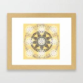 Sacred Ninefold Wheel Mandala Framed Art Print