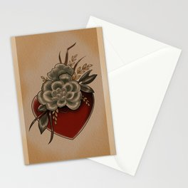 Succulent Heart Vase Tattoo Valentine Stationery Cards