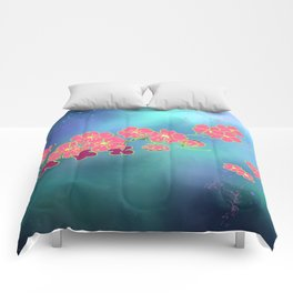 Cherry Blossom Nights Comforters