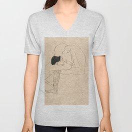 "Egon Schiele ""Lovers"" Unisex V-Neck"
