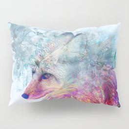 Abstract Pastel Fox Pillow Sham