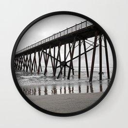 Bridge of water and sand Wall Clock
