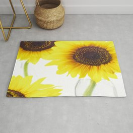 #Three  #Sunflowers for #decorativ #home #decors Rug