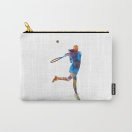 Woman tennis player 03 in watercolor Carry-All Pouch