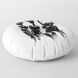 3 horned girls Floor Pillow