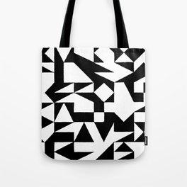 English Square (Black & White) Tote Bag