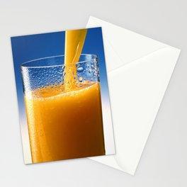 A Glass of Orange Juice Stationery Cards