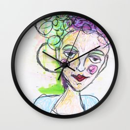 She was always stomping on egg crates that others tipped toed on Wall Clock