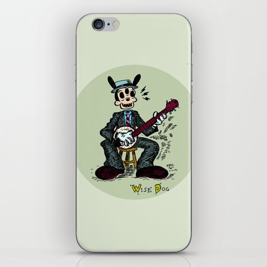 Wise Dog and his Banjo iPhone & iPod Skin