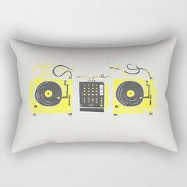 DJ Vinyl Decks And Mixer Rectangular Pillow