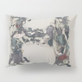 Letter H in Paint Pillow Sham