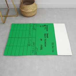 Library Card 797 Green Rug